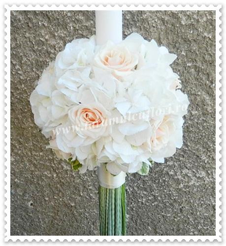 Lumanari de nunta din trandafiri si hortensie.4160